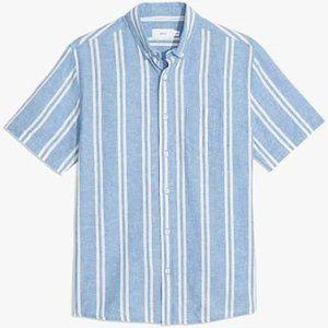 Onia Men's Short Sleeve Button Down Shirt (L)